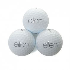 Golf Balls (Black Text) - Set of 3 $18.00