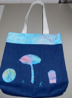 Appliqued #Beach Scene #Bag Beach #Tote bag Beach by beckyspillowshop, $22.00