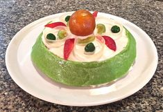 Cassata Siciliana - ricotta-filled sponge cake hugged by a marzipan belt. Classic Desserts, Italian Desserts, Italian Recipes, Candied Orange Peel, Candied Fruit, Almond Paste, Green Food Coloring, Best Candy, Sponge Cake