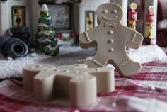 Gingerbread Man Soaps  Set of 6 by waterclosetsoap on Etsy, $15.00