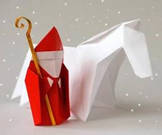 Origami St Nicholas -- shared with us by Leyla Torres of Origami Spirit, http://www.origamispirit.com/