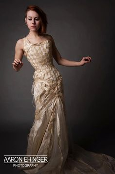 Custom Corset Wedding Gown Woven by EccentricallyLaced on Etsy, $2000.00