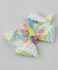 Another great find on #zulily! Lime & Lavender Zigzag Surprise Bow Clip by Picture Perfect Hair Bows #zulilyfinds