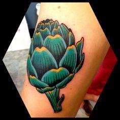 la politica del carciofo - the politics of the artichoke(take on one opponent at a time)  Next tattoo!