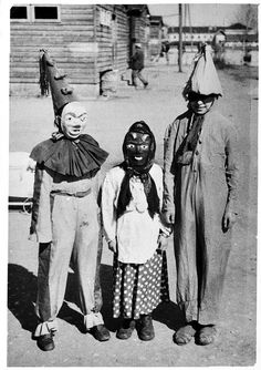 Vintage Halloween costume photo