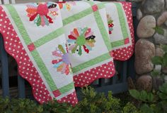 I really want to try to make a Dresden Plate quilt. I like this scrappy version and the pattern/instructions are FREE!