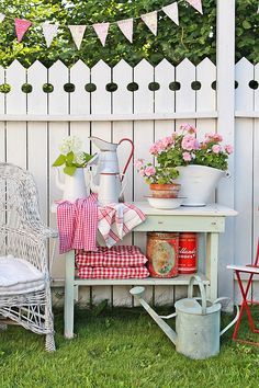 Summer decorating for outside