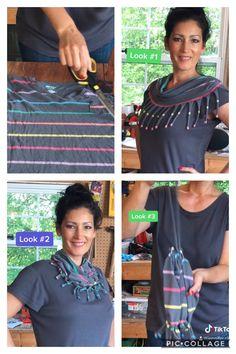 Wrap Shirt, T Shirt, Thrifting, Upcycle, Make It Yourself, Sewing, Fashion, Supreme T Shirt, Moda