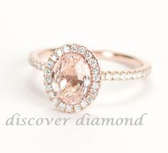 CERTIFIED HALO ENGAGEMENT  RING SOLID 14 K ROSE GOLD WITH 1.40 CT DIAMOND #DiscoverDiamond #Solitaire