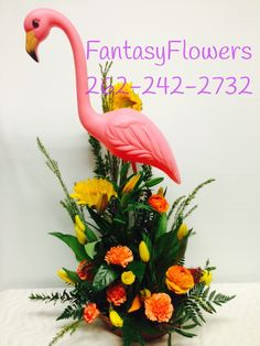 #Flamingo surprise what a great arrangement to send somebody fantasy flowers