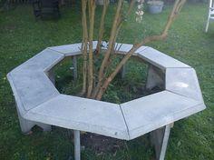 rund betongbänk