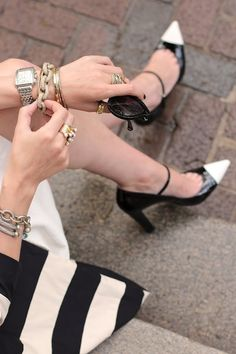 Sometimes, it's about the fabulous accessories! I love the chain link bracelet.