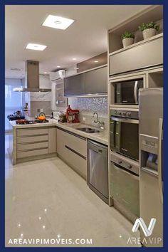 Seleção de cozinhas encontradas na internet para os clientes da areavipimoveis se inspirarem