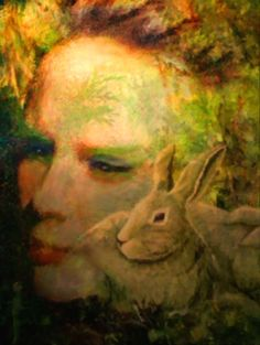 """Eostre"" (digital art: L.L.Jones, Model for Eostre...Katie Warwick)"