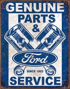 Genuine Ford Parts & Service Signs. Ford Collectibles at Garageart.com