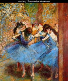 Dancers in blue, 1890 Painted by:Edgar Degas Location:Musée D'Orsay, Paris, France
