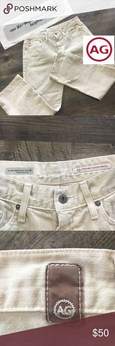 NWOT size 28R EX-boyfriend cropped in offwhite NWOT size 28R EX-boyfriend cropped in offwhite Ag Adriano Goldschmied Jeans Ankle & Cropped