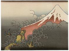 "Japanese Ukiyoe, Woodblock print, Katsushika Hokusai, ""Deadlocking travelers with a heavy snow in the Echigo district"" Japanese Paper, Japanese Prints, Japanese Design, Korean Art, Asian Art, Art Occidental, Japan Painting, Katsushika Hokusai, Art Diy"