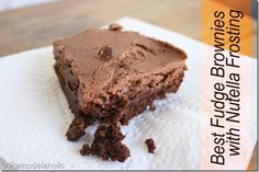 best homemade fudge brownies with nutella frosting recipe