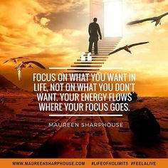 Focus on what you do want in life. Not what you don't! #lifecoach #lifechange #lifecoaching #lifeofnolimits #life #feelalive #personaldevelopment #mindset #mentor