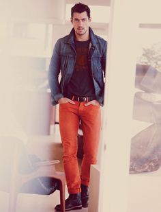 david gandy lucky9 David Gandy Adopts This Seasons Casual Styles for Lucky Brand Fall/Winter 2012