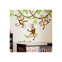 Muursticker jungle drie aapjes in een boom bevat:- 3 aapjes ( kies 2 kleuren ,- 2 hoofd nerven( kies 1 kleur),- Blaadjes en nerven ( kies 1 kleur),- Test sticker,- Plakinstructies.Afmetingen: Volledige tekening: 226 cm b x 117 cm h (Typ je kleurkeuze in het textvlak onderaan)