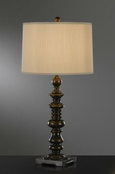 One Light Ebony Round Putty Color Shantung On Styrene Shade Table Lamp : SKU CFYW | Annapolis Lighting: great way to add a touch of traditional to the family room