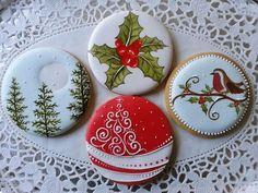Gingerbread cookie icing inspiration Mézeskalács