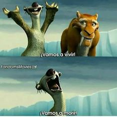 Siganme como Emily no te arrepentirás! Ice Age Movies, Good Movies, Pixar, Teen Wolf Memes, Inspirational Memes, Humor Mexicano, Disney Memes, Disney And Dreamworks, Funny Posts