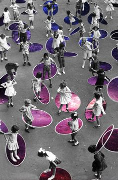 Hula Hoop #collage #retro #vintage #illustration #collageart #digitalcollage