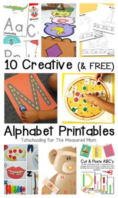 Need some alphabet activities for preschool and kindergarten?  These alphabet printables are just what you need!