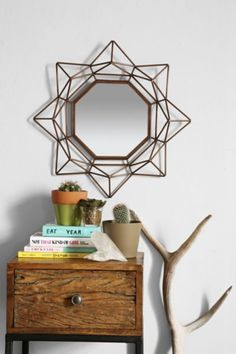 4040 Locust Geo Copper Wire Mirror