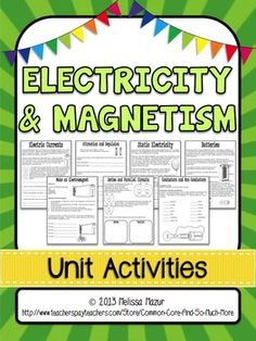 This set contains 12 reading passages/activity sheets to help enhance your unit on magnetism and electricity.