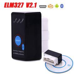 New MINI ELM327 Bluetooth Daya Beralih ELM 327 OBD2/Kode Scanner OBDII scan tool untuk Android Torsi Mobil gratis pengiriman