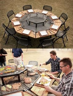 Grill outdoor table. Diy project