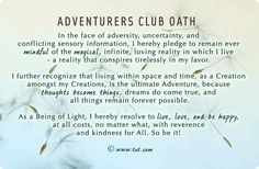 Mike Dooley - Notes from the Universe- Adventurers Club Oath