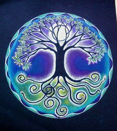 Full Moon Tree of Life Mandala,Artist Study , circles , Art Featuring Circles, Inspiration for CAPI Students at milliande.com , circles, kreis, symbology , metaphor, emotion, idea, art