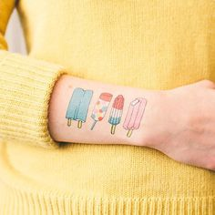 YUM - Tasteful Temporary Food And Drink Tattoos Youll Want To Show Off