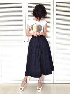 High waisted skirt and tee