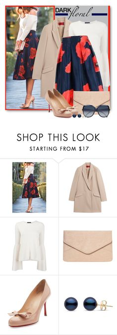 """""""In Bloom:  Dark Florals"""" by brendariley-1 ❤ liked on Polyvore featuring HUGO, The Row, Dorothy Perkins, Christian Louboutin, Chloé and darkflorals"""