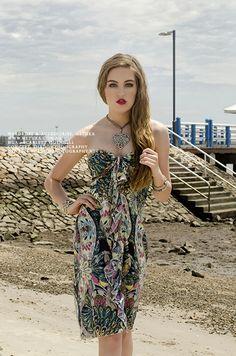 Hibiscus Green Strapless Midi #metuka.com.au #hibiscusstraplessmidi