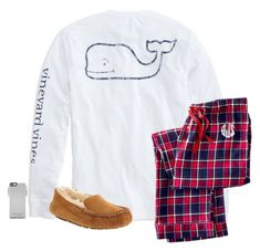 """""""Sleepover"""" by laxsoccerlover36 ❤ liked on Polyvore featuring Vineyard Vines, Mark & Graham, UGG Australia and OtterBox"""