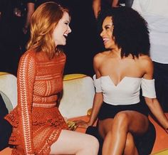 Sarah Drew and Kelly McCreary at EW Emmy Party 2016 (April Kepner and Maggie Pierce)