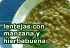 Lentejas con manzana y hierbabuena :: recetas veganas recetas vegetarianas :: Vegetarianismo.net