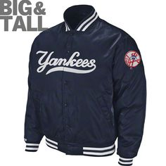 New York Yankees Big & Tall Satin Jacket