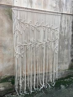 Macrame Wedding Background / Large Macrame Wall Hanging This beautiful item . , Macrame Wedding Background / Large Macrame Wall Hanging This beautiful item with cotton rope. Width - Length - Macrame wall decor as . Boho Curtains, Macrame Curtain, Wall Curtains, Shower Curtains, Large Curtains, Bedroom Curtains, Diy Wand, Macrame Design, Macrame Art