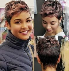 The Effective Pictures We Offer You About short black hairstyles plus size A qu Cute Hairstyles For Short Hair, My Hairstyle, Curly Hair Styles, Braided Hairstyles, Wedding Hairstyles, Short Sassy Hair, Short Hair Cuts, Pixie Cuts, Short Pixie