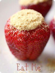 Cheesecake stuffed strawberry!!!