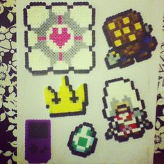 Video Game Perler Bead Sprites by chkimbrough on deviantart