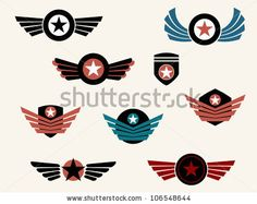 Shield And Badge With Wings Stock Vector 106548644 : Shutterstock